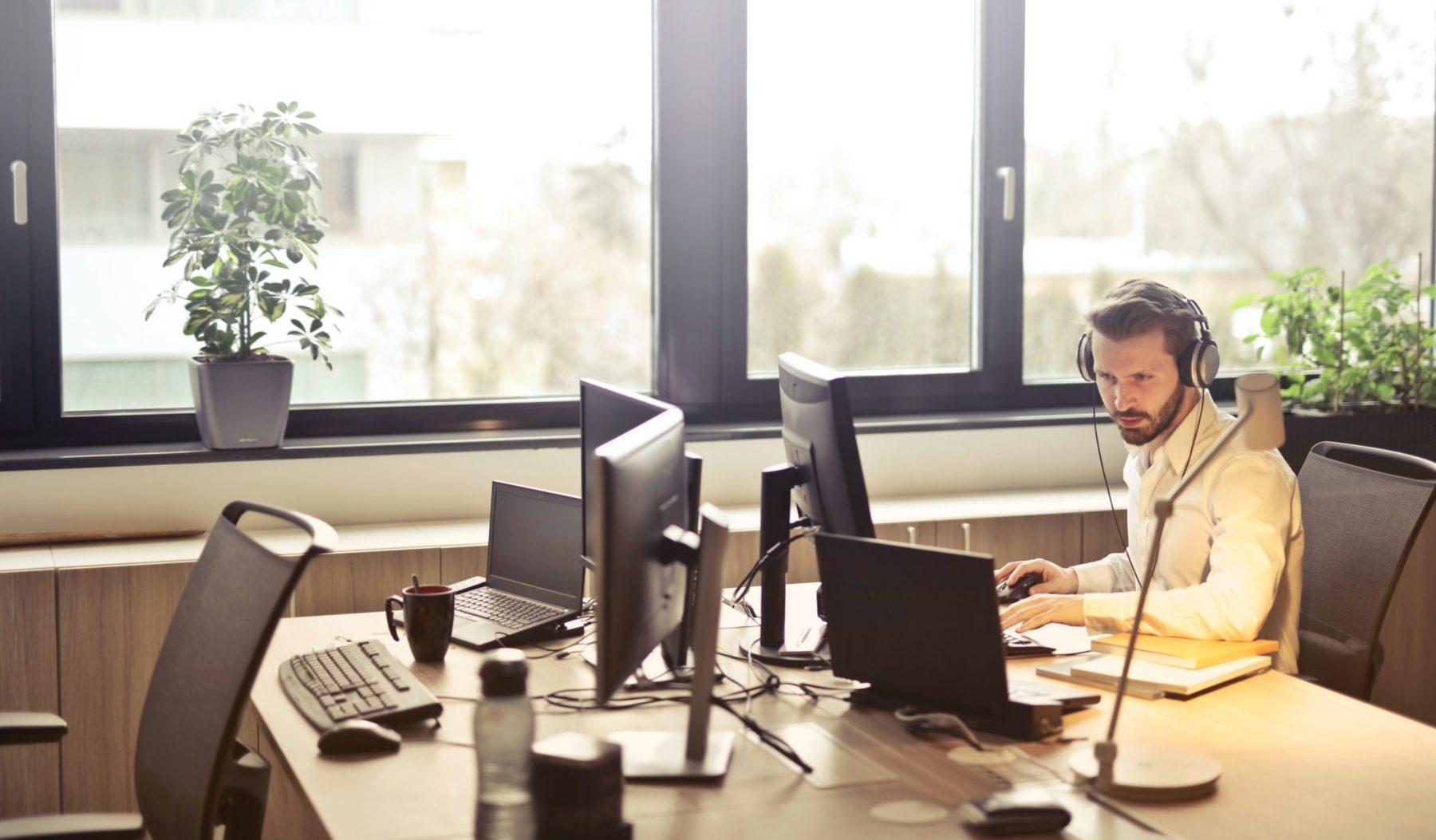 Image: listening to a webinar