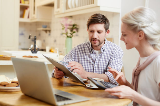 Image: discussing finances